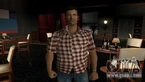 Kockas polo - narancs sarga T-Shirt for GTA Vice City second screenshot