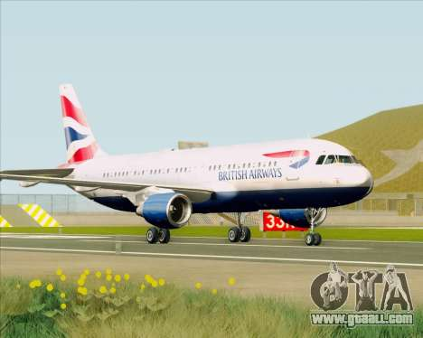 Airbus A320-232 British Airways for GTA San Andreas left view
