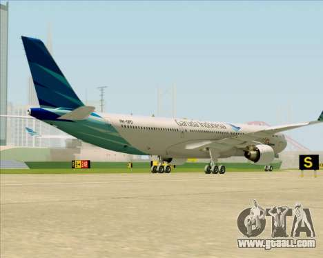 Airbus A330-300 Garuda Indonesia for GTA San Andreas right view