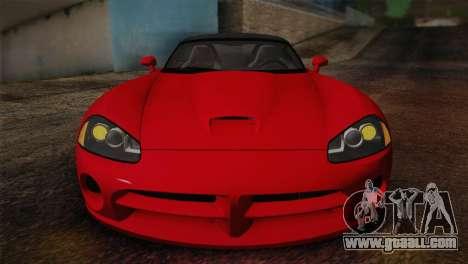 Dodge Viper SRT-10 2003 for GTA San Andreas right view
