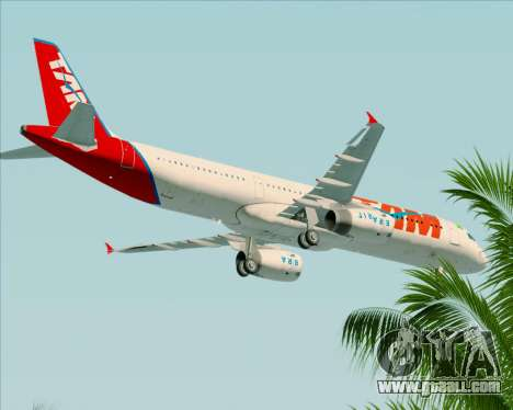 Airbus A321-200 TAM Airlines for GTA San Andreas upper view