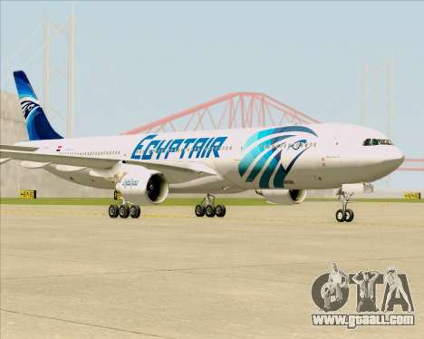 Airbus A330-300 EgyptAir for GTA San Andreas back left view