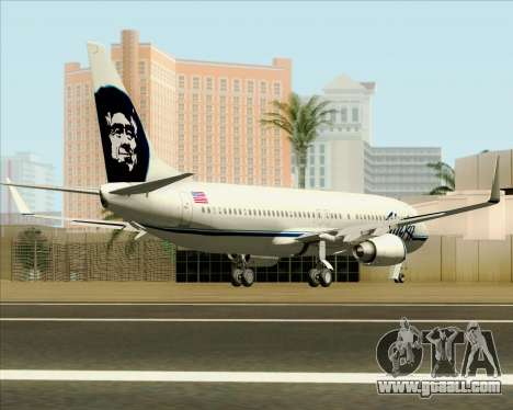 Boeing 737-890 Alaska Airlines for GTA San Andreas right view