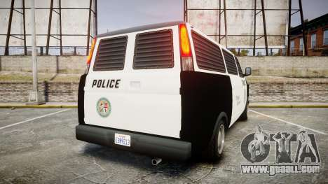 Declasse Burrito Police Transporter LED [ELS] for GTA 4 back left view