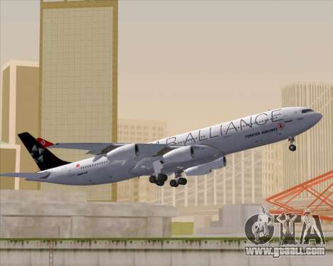 Airbus A340-311 Turkish Airlines (Star Alliance) for GTA San Andreas side view