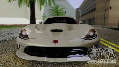 Dodge Viper SRT GTS 2013 Road version for GTA San Andreas right view