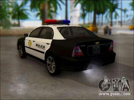 Chevrolet Evanda Police for GTA San Andreas back left view