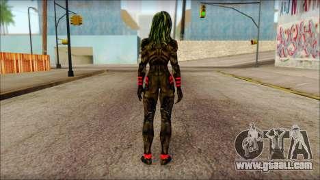Guardians of the Galaxy Gamora v1 for GTA San Andreas second screenshot