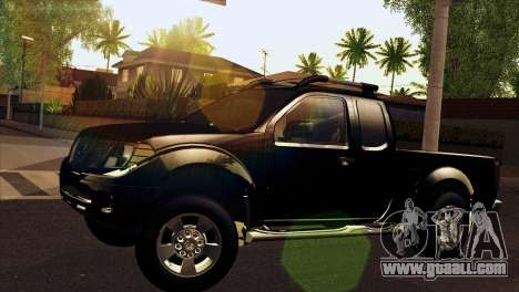 Nissan Frontier 2013 for GTA San Andreas back left view