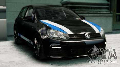 Volkswagen Golf R 2010 Polo WRC Style PJ1 for GTA 4 back left view