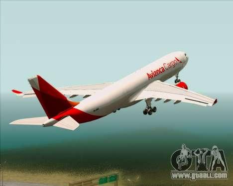 Airbus A330-243F Avianca Cargo for GTA San Andreas