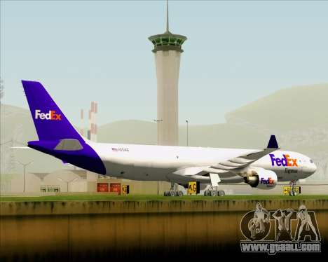 Airbus A330-300P2F Federal Express for GTA San Andreas upper view