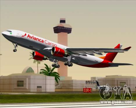 Airbus A330-243F Avianca Cargo for GTA San Andreas side view