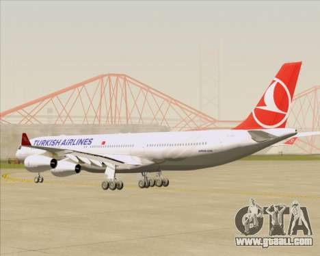 Airbus A340-313 Turkish Airlines for GTA San Andreas right view