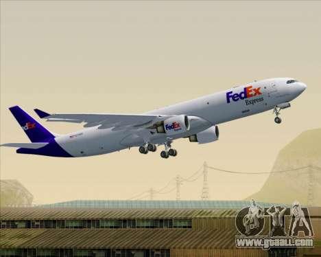 Airbus A330-300P2F Federal Express for GTA San Andreas wheels