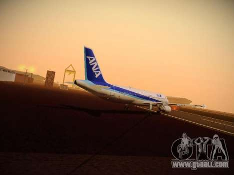 Airbus A320-211 All Nippon Airways for GTA San Andreas engine
