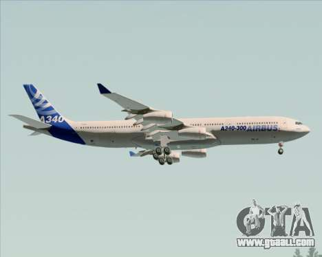 Airbus A340-311 House Colors for GTA San Andreas wheels