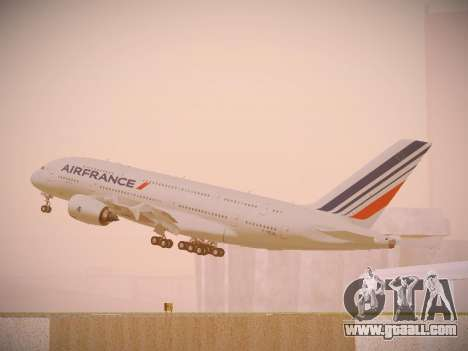 Airbus A380-800 Air France for GTA San Andreas interior