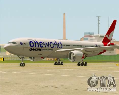Airbus A330-200 Qantas Oneworld Livery for GTA San Andreas left view