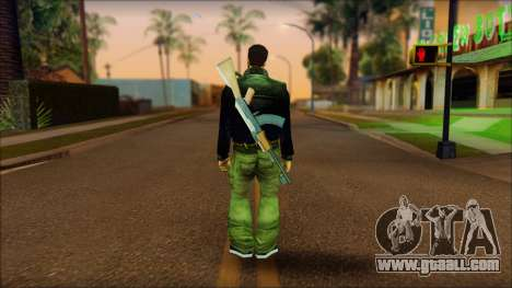 Gun and No Shades Claude for GTA San Andreas second screenshot