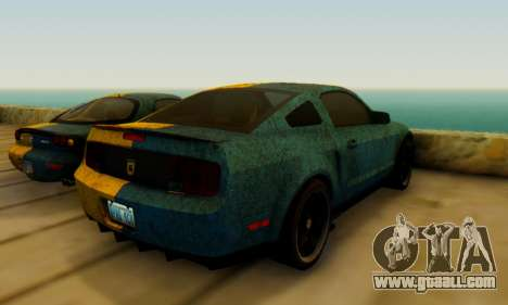 Ford Mustang Shelby Terlingua 2008 UA PJ for GTA San Andreas back left view