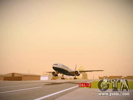 Boeing 777-2Q8ER Orenair Airlines for GTA San Andreas left view