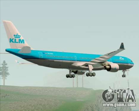 Airbus A330-300 KLM Royal Dutch Airlines for GTA San Andreas back view