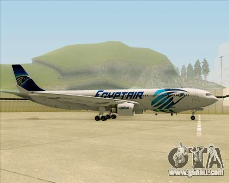 Airbus A330-300 EgyptAir for GTA San Andreas back view