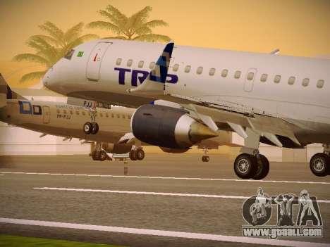 Embraer E190 TRIP Linhas Aereas Brasileira for GTA San Andreas wheels