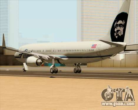 Boeing 737-890 Alaska Airlines for GTA San Andreas back left view