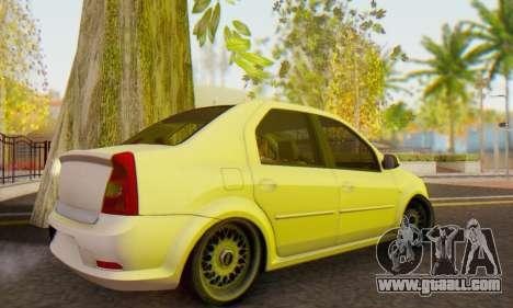 Dacia Logan White for GTA San Andreas back left view