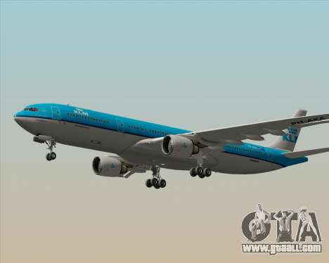 Airbus A330-300 KLM Royal Dutch Airlines for GTA San Andreas bottom view