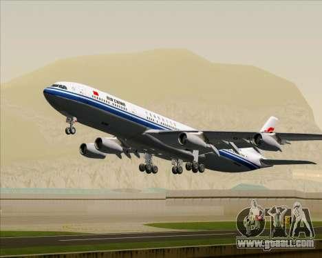 Airbus A340-313 Air China for GTA San Andreas wheels