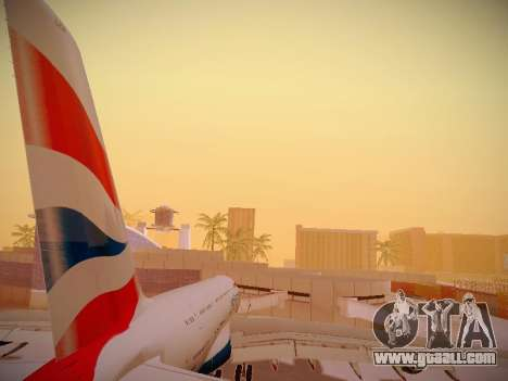 Airbus A380-800 British Airways for GTA San Andreas