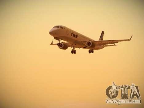 Embraer E190 TRIP Linhas Aereas Brasileira for GTA San Andreas left view