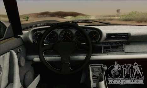 RUF CTR Yellowbird 1987 for GTA San Andreas inner view