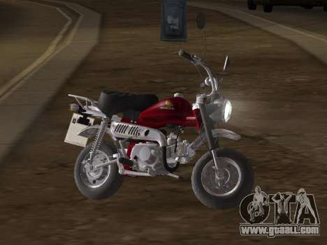 Honda Z50J Monkey for GTA San Andreas inner view