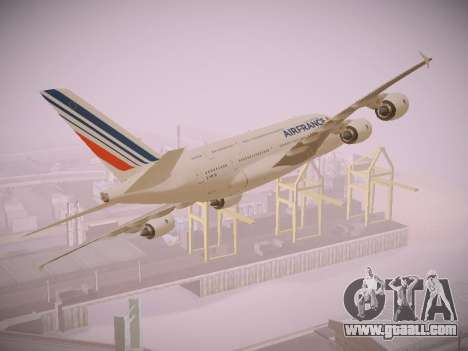 Airbus A380-800 Air France for GTA San Andreas back left view