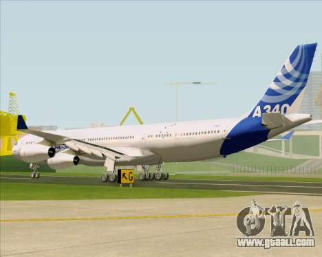 Airbus A340-311 House Colors for GTA San Andreas back left view
