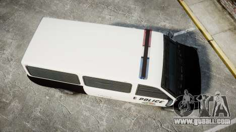 Declasse Burrito Police Transporter LED [ELS] for GTA 4 right view