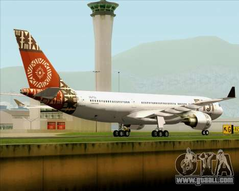 Airbus A330-200 Fiji Airways for GTA San Andreas right view