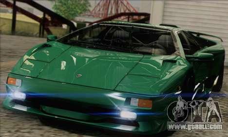 Lamborghini Diablo SV 1997 for GTA San Andreas back left view