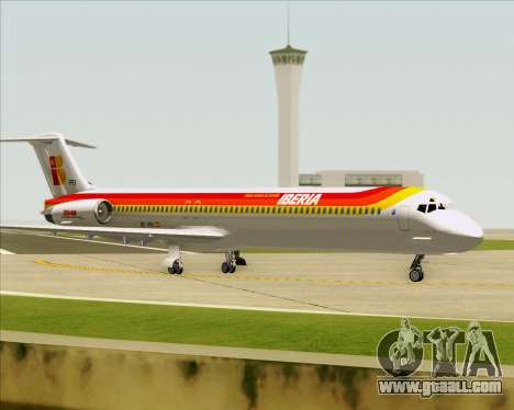 McDonnell Douglas MD-82 Iberia for GTA San Andreas wheels