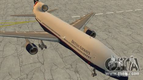 Lockheed L1011 Tristar British Airways for GTA San Andreas back left view