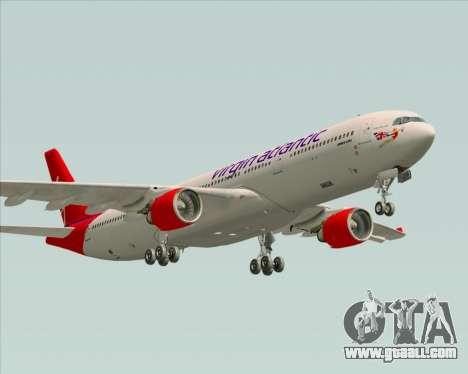 Airbus A330-300 Virgin Atlantic Airways for GTA San Andreas side view