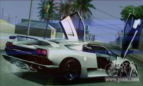 Lamborghini Diablo SV 1997 for GTA San Andreas right view
