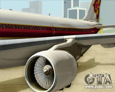 Airbus A330-300 Thai Airways International for GTA San Andreas side view