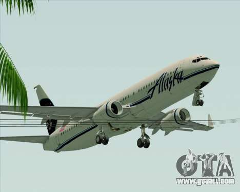 Boeing 737-890 Alaska Airlines for GTA San Andreas bottom view