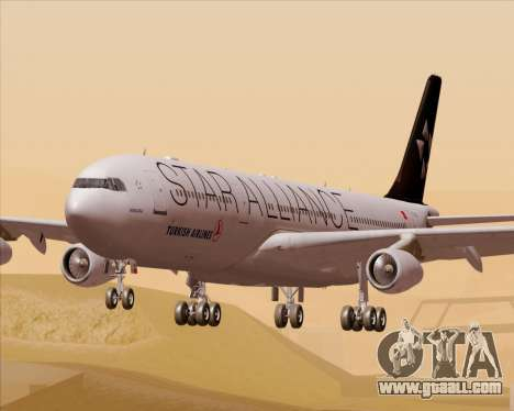Airbus A340-311 Turkish Airlines (Star Alliance) for GTA San Andreas