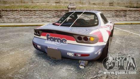Mazda RX-7 Forge Motorsport for GTA 4 back left view